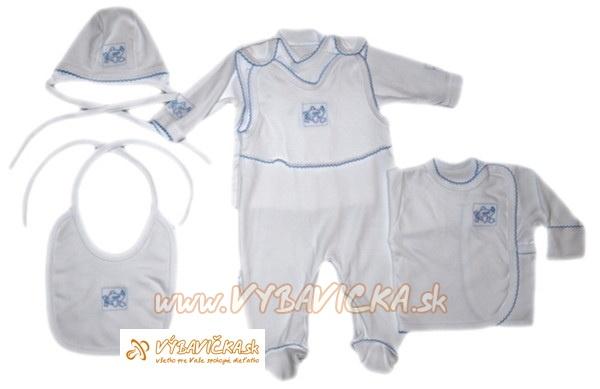 ac17a31e1f7e Súprava dupačková do pôrodnice pre novorodencov medvedík bielomodrá